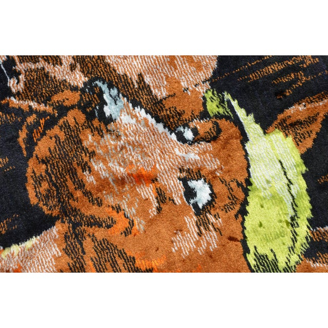 Textile Vintage - Dogs Playing Pool - Wall Tapestry Wall Rug - 49ʺ X 70ʺ For Sale - Image 7 of 10