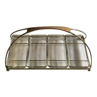 Ernest Sohn Mid-Century Brass & Glass Serving Dish For Sale