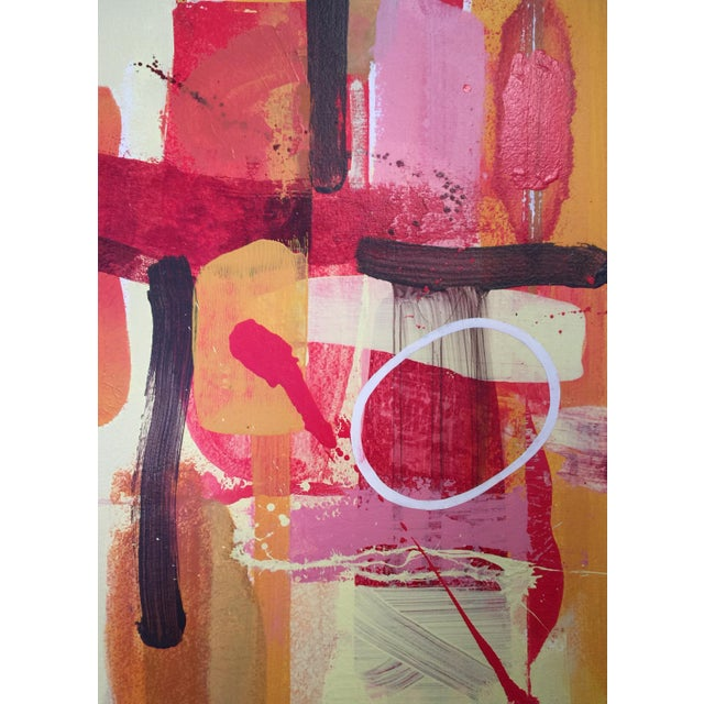 """Denmark Contemporary Red Abstract """"Flora Fuega 2"""" For Sale In West Palm - Image 6 of 6"""