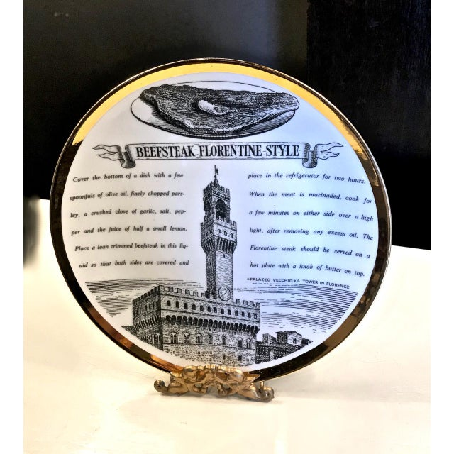 Mid-Century Fornasetti Italian Recipe Plates For Sale In Los Angeles - Image 6 of 11