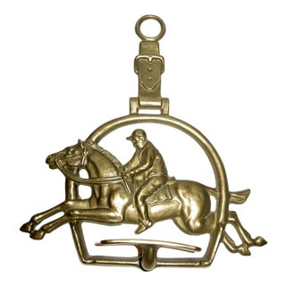 Antique Italian Brass Equestrian Coat/Hat Rack For Sale