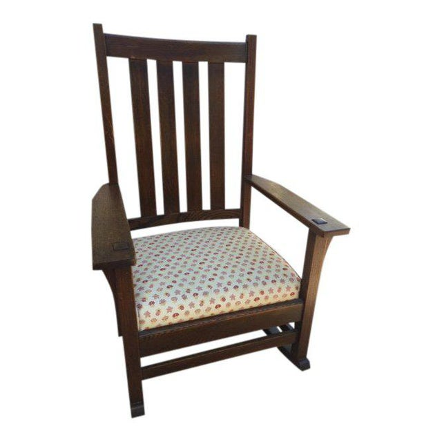 1930s Vintage Mission Style Rocking Chair For Sale - Image 10 of 10