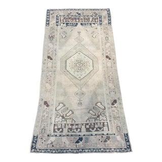 Vintage Turkish Oushak Wool Rug - 4′11″ × 9′6″ For Sale