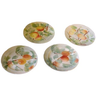 Aesthetic Movement Floral Plates - Set of 4