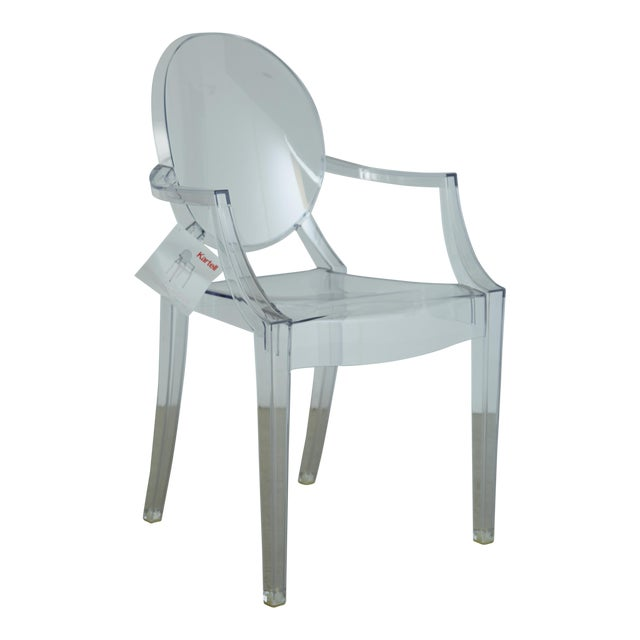 Louis XVI Ghost Chairs by Philippe Starck for Kartell, Unused With Original Tags, 12 Available For Sale - Image 10 of 10