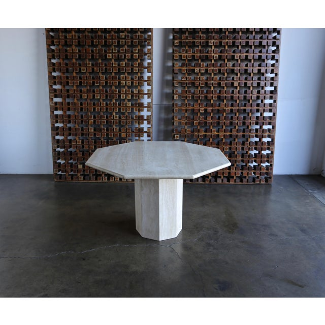 Stone Octagonal Travertine Centre Table, Circa 1975 For Sale - Image 7 of 7