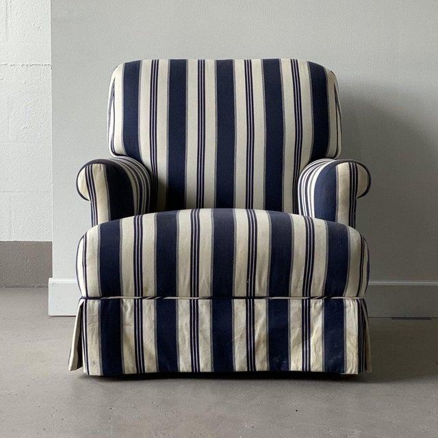 "Pair of Bridgewater Chairs with Ralph Lauren Fabric Height: 34.5"" // Seat Height: 15.5"" Width: 31"" Depth: 35.5"""