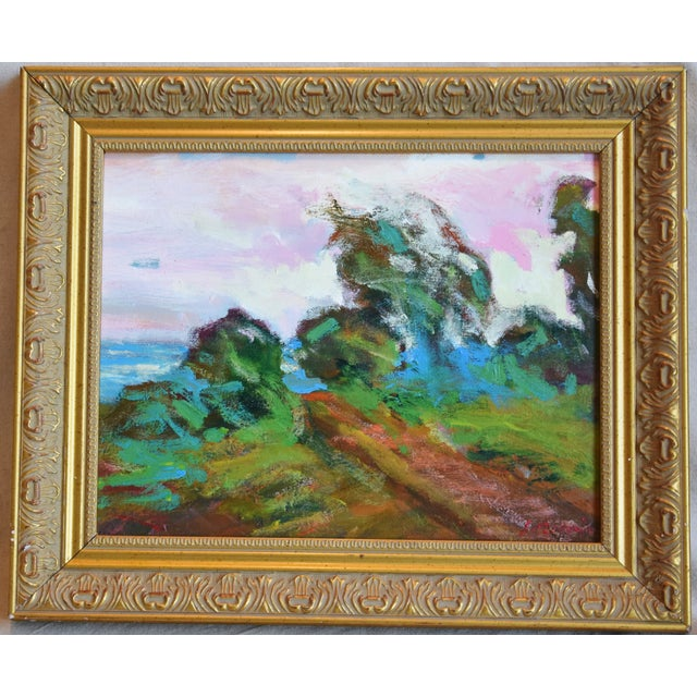 California Santa Barbara Landscape Oil Painting by Juan Guzman For Sale - Image 9 of 10