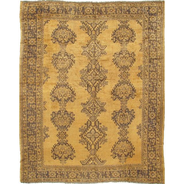 1900 - 1909 Antique Turkish Oushak Rug Carpet, 9'4 X 11' For Sale - Image 5 of 5