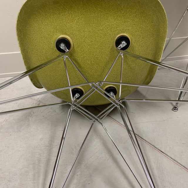 Mid-Century Modern Citron Modernica Shell Side Chairs - a Pair For Sale - Image 9 of 10