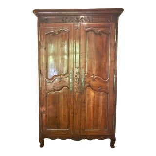 18th Century French Walnut Wedding Armoire