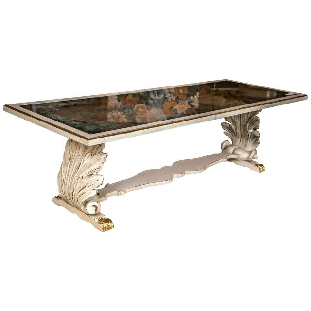 Shell Verne Églomisé Top Coffee Table For Sale - Image 9 of 9