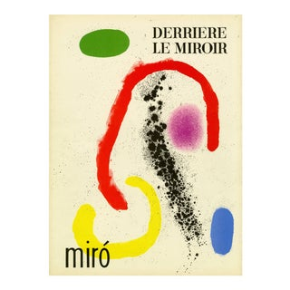 "Original Lithograph Cover From ""Derriere Le Miroir No.125-126 (Double Issue) - Miro"" 1961 For Sale"