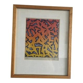 1984 Daniel Goldstein Colorgraph Print For Sale