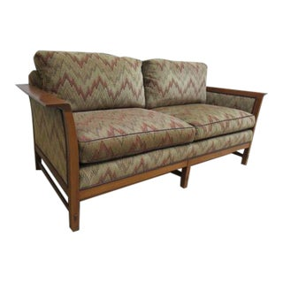 Stickley Tiger Oak Mission Arts Crafts Sofa Couch Settee