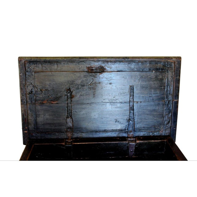 Huge 1650s Asian Trunk, Wood & Iron, Handmade Craftsmanship For Sale - Image 4 of 10