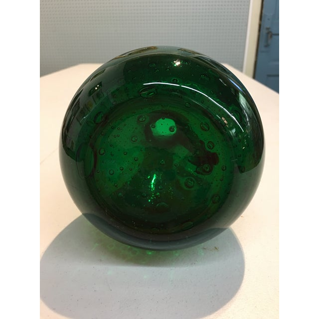 Royal Leerdam Emerald Green Art Glass Pitcher For Sale In Chicago - Image 6 of 7