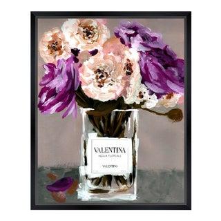 Oliver Gal 'Acqua Florale Plum' Framed Art For Sale