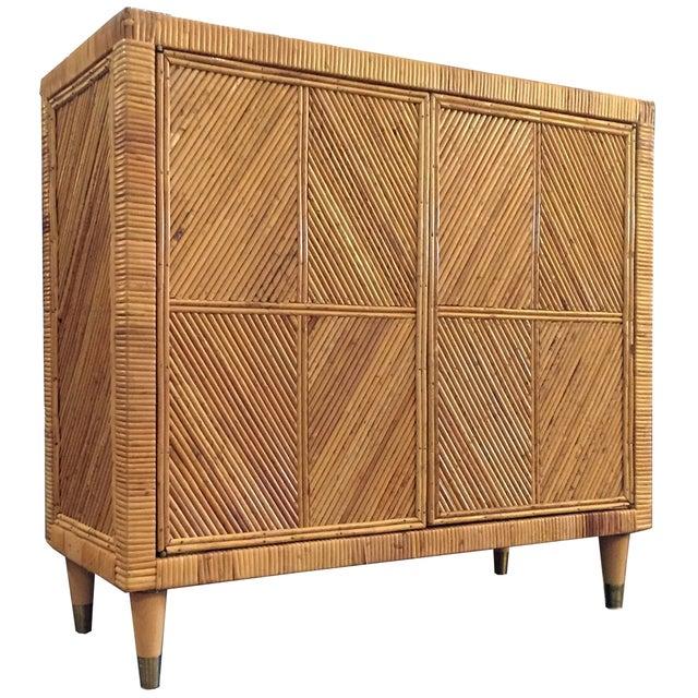 Vintage Split Bamboo Cabinet - Image 1 of 3