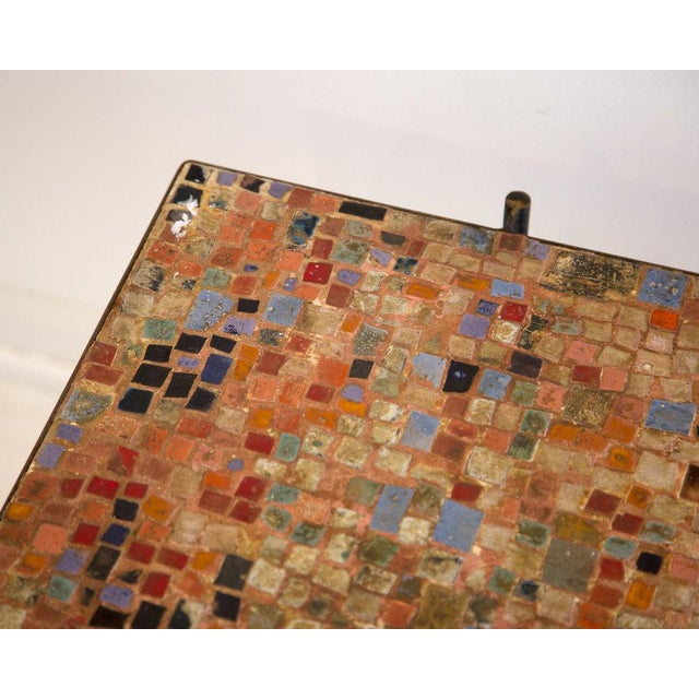 Remarkable Italian Iron And Tiled Mosaic Coffee Table Ocoug Best Dining Table And Chair Ideas Images Ocougorg