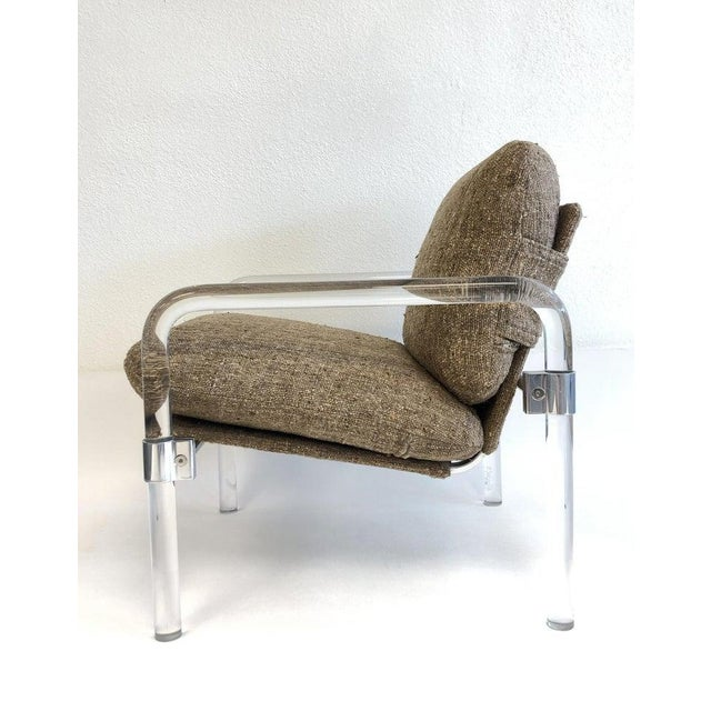 """Silver """"Pipe Line Series 2"""" Acrylic and Chrome Lounge Chairs by Jeff Messerschmidt - a Pair For Sale - Image 8 of 11"""