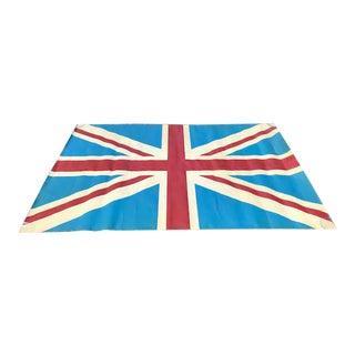 Vintage Mid-Century Artisan Made Union Jack British Flag For Sale