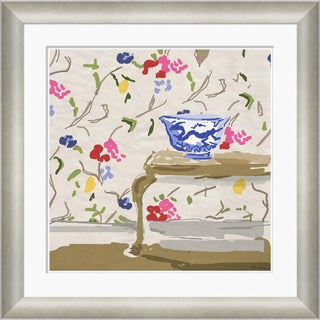 """Sissinghurst with Dragon Bowl"" By Dana Gibson, Framed Art Print For Sale"