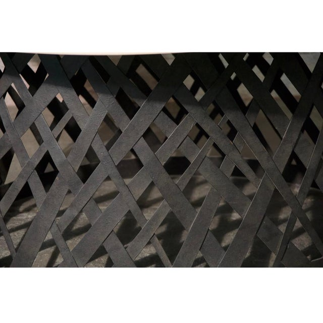 Basket Weave Dining Table For Sale - Image 4 of 6