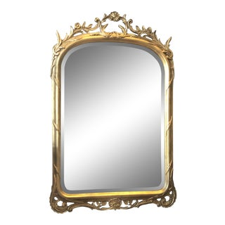 1920s Antique Gold Leaf Mirror For Sale