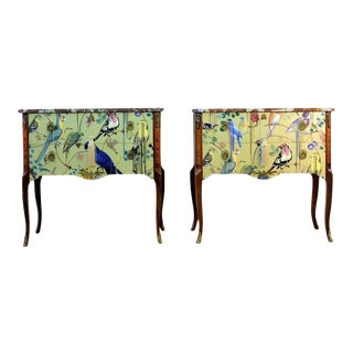 Classic Gustavian Louis XV Style Chests With Christian Lacroix Design - A Pair For Sale