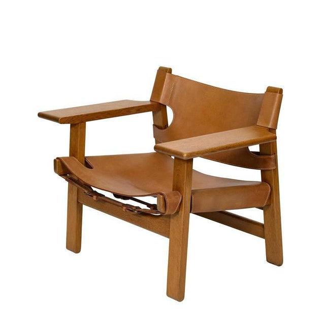 """Spanish Pair of Børge Mogensen """"Spanish"""" Chairs For Sale - Image 3 of 10"""