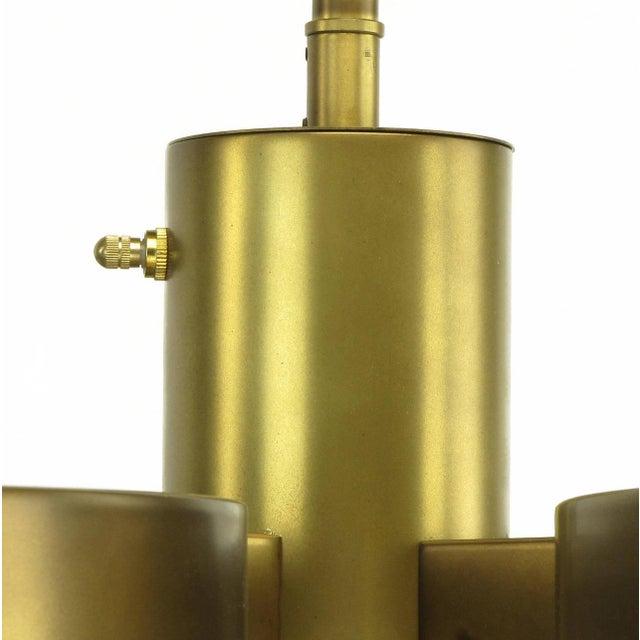 Feldman Lighting Five-Light Hemispherical Milk Glass and Brass Pendant For Sale - Image 9 of 10