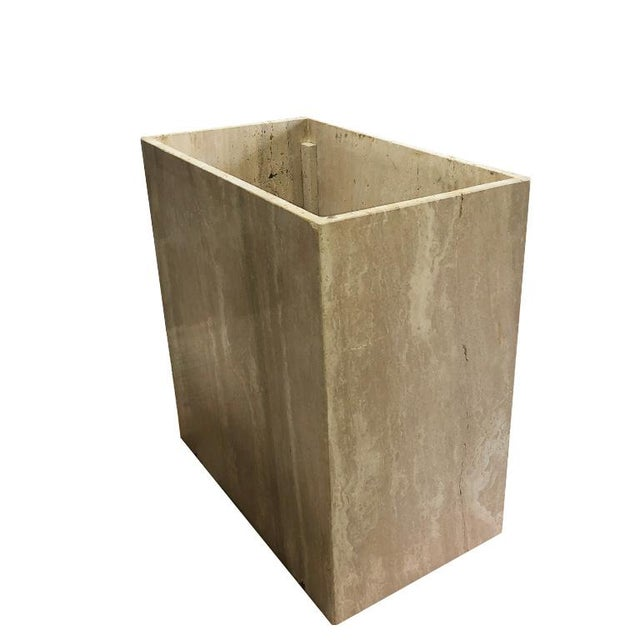 Travertine Square Stone Italian Maximalist Table Base by Artedi Made in Italy For Sale - Image 9 of 12