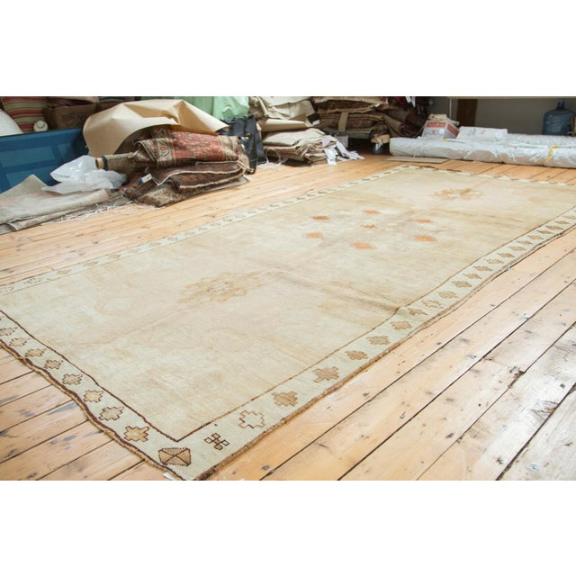"Vintage Oushak Rug Runner - 6'3"" X 12'5"" For Sale - Image 10 of 10"
