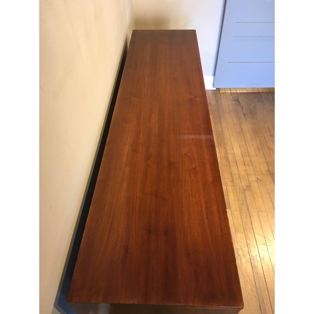 Mid 20th Century Vintage Walnut Credenza For Sale - Image 9 of 10