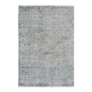 Kafkaz Peshawar Willis Gray/Tan Wool & Viscouse Rug - 4' X 5'10""