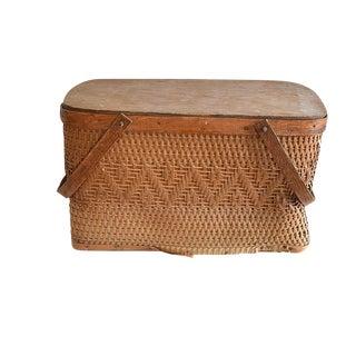 Vintage Picnic Basket For Sale