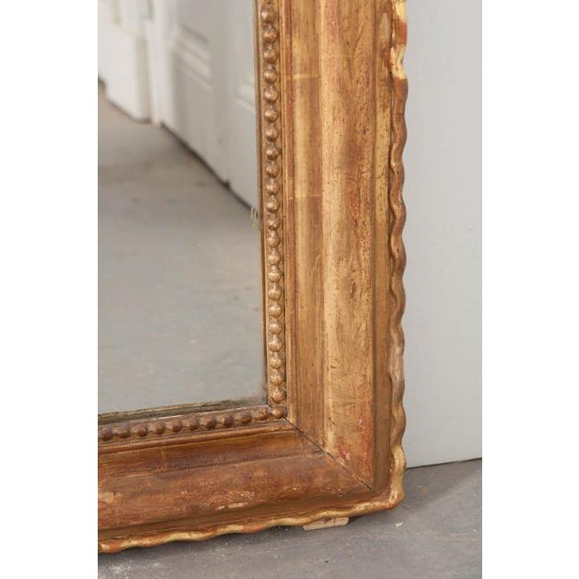 Etching French 19th Century Gold Gilt Louis Philippe Mirror For Sale - Image 7 of 9