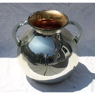 1960s Vintage Two-Handled Mercury Glass Vessel Preview