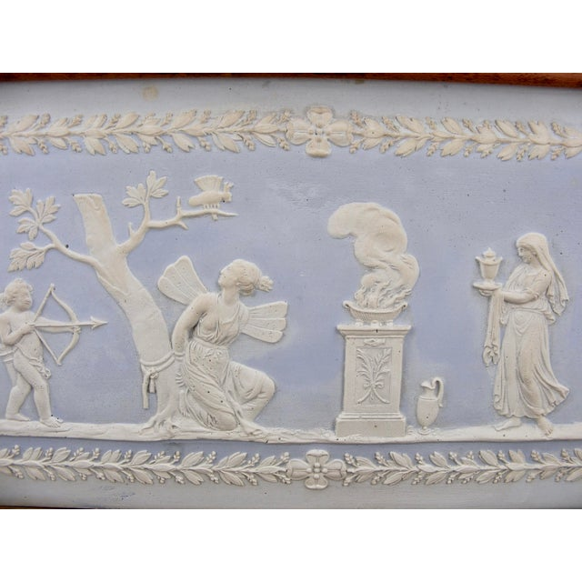 English Traditional Wedgwood Blue Jasperware Framed Fireplace Tile For Sale - Image 3 of 9
