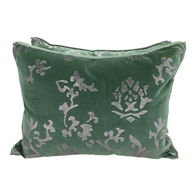 Custom Hand Stenciled Pillows - A Pair - Image 1 of 5