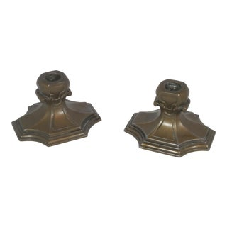 1940s Art Deco Candle Holders - a Pair For Sale