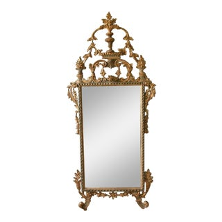 Italian Gilt Wood Carved Mirror For Sale