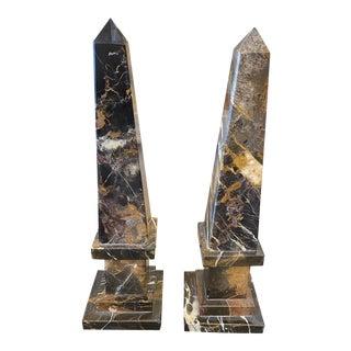 Marble Obelisks - a Pair For Sale
