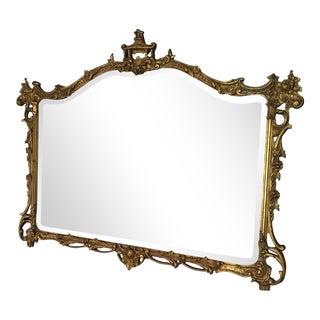 20th C. Italian Gilt Wood Chinoiserie Mirror