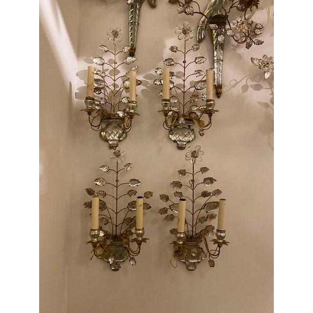 Metal 1920s Double Light Leaf Design Sconces - a Pair For Sale - Image 7 of 8