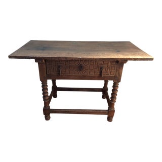 Spanish Colonial Table With Iron Hardware For Sale