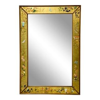 La Barge Eglomise Chinoiserie Italian Mirror For Sale