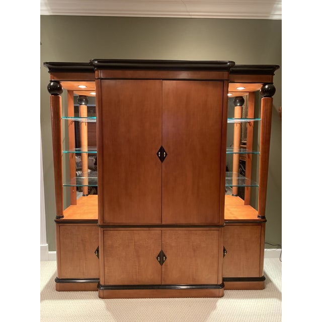 Glass National Mount Airy Biedermeier Tv Armoire For Sale - Image 7 of 7