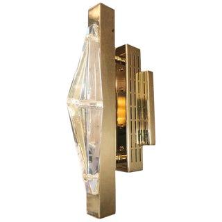 Four Crystal Gold Sconces / Flush Mounts by Fabio Ltd For Sale